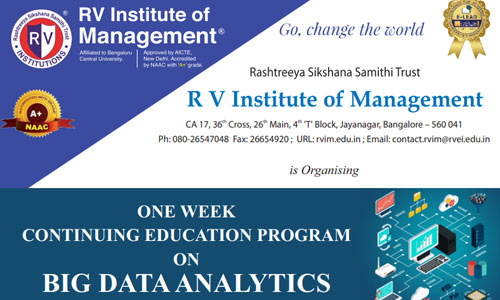 One Week CEP on Big Data Analytics from 5th to 10th October 2020