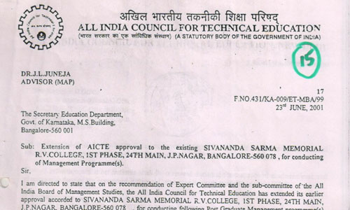 AICTE Extension of approval letters